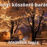 Karácsonyi köszöntő barátoknak