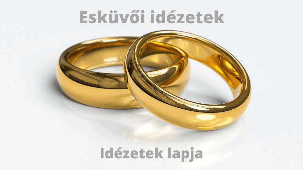 Esküvői idézetek