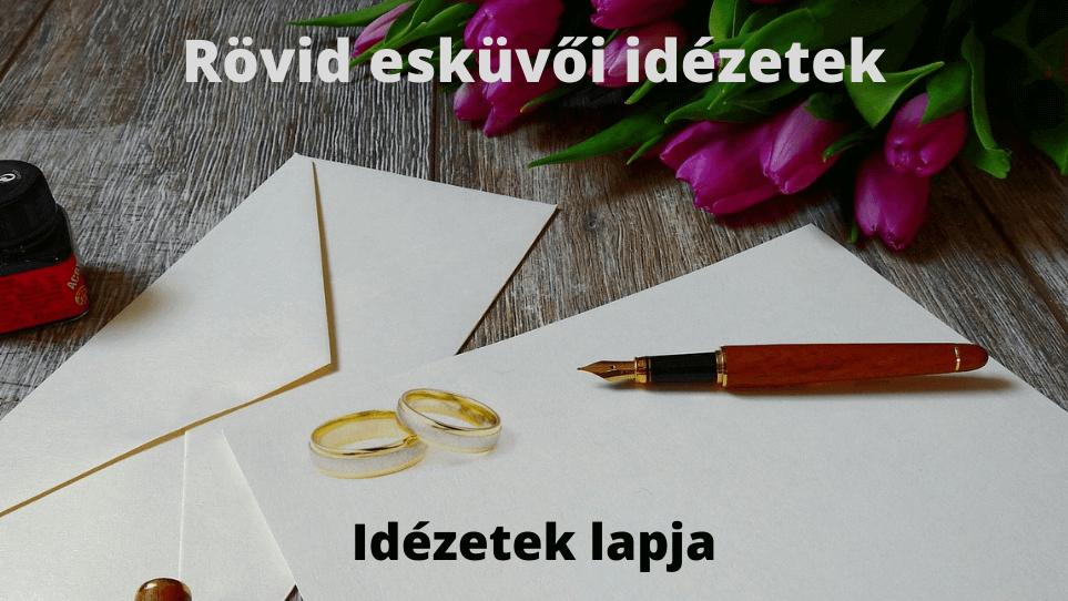 Rövid esküvői idézetek